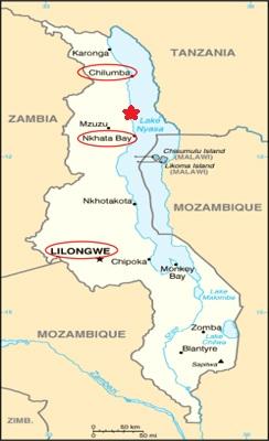 Map - Malawi & Ruarwe