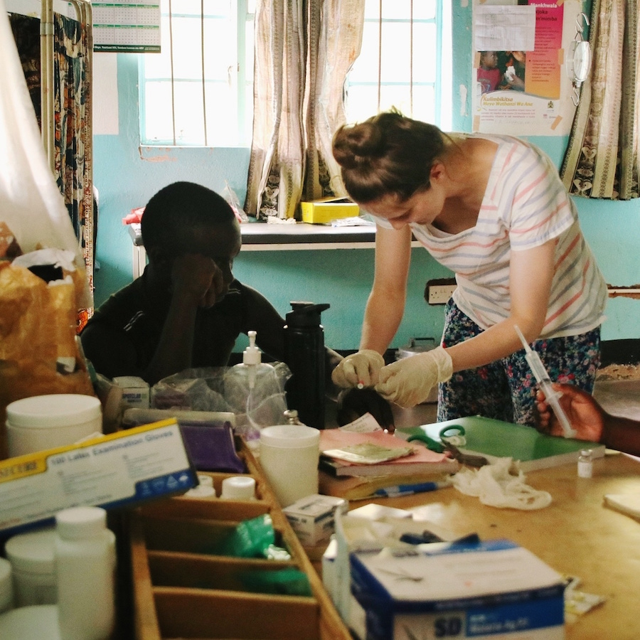 Student nurse Emily