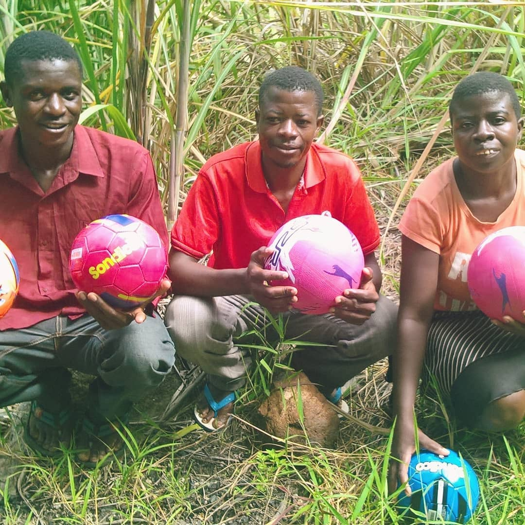 footballs and netballs